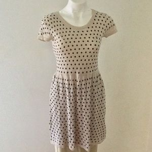 Cotton knit polka dot dress